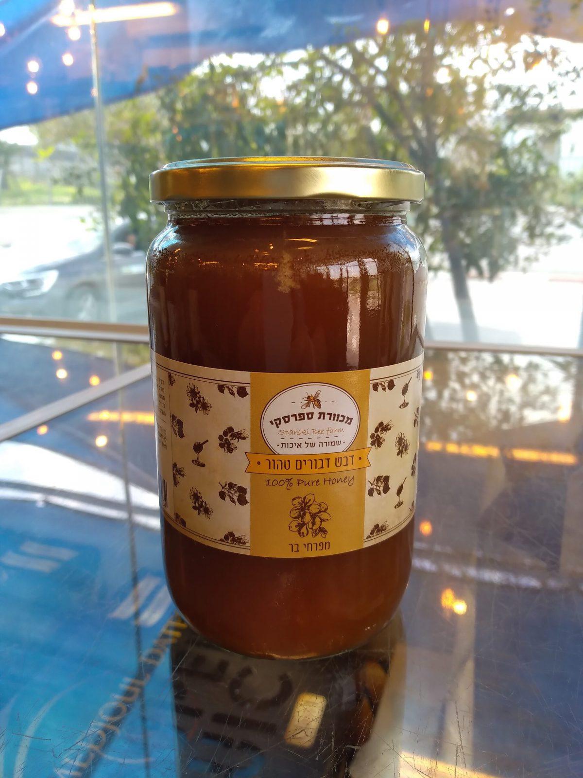 תמונת דבש דבורים טהור מפרחי בר